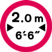No Vehicles Over Width Shown II.